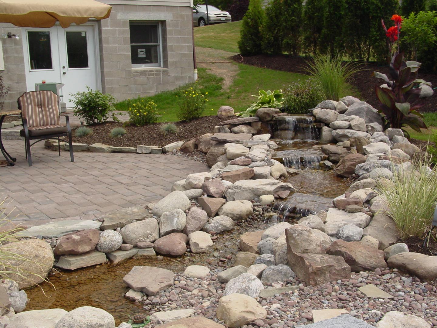04 Westside offers many water feature options. Here we did